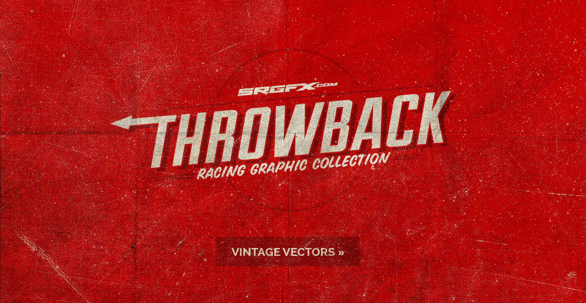Throwback Vintage Vector Racing Graphics
