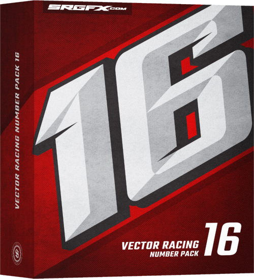SRGFX Vector Racing Number Pack 16