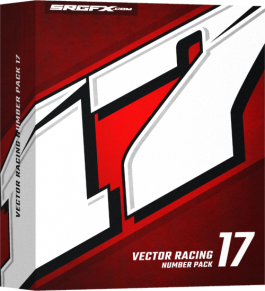 SRGFX Racing Number Pack 17