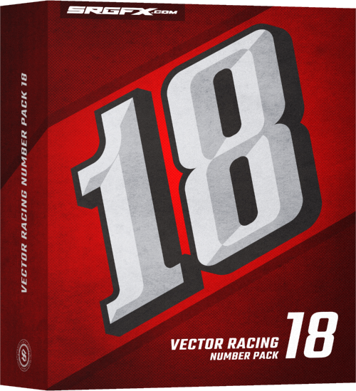 SRGFX Vector Racing Number Pack 18