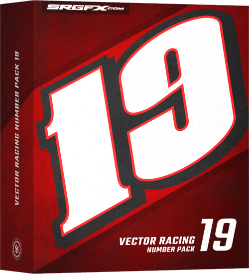Vector Racing Number Pack 19