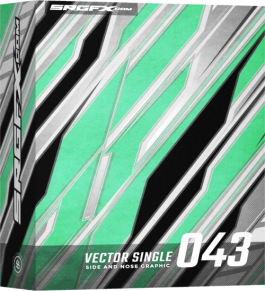 SRGFX Vector Racing Graphic Single 043 Box
