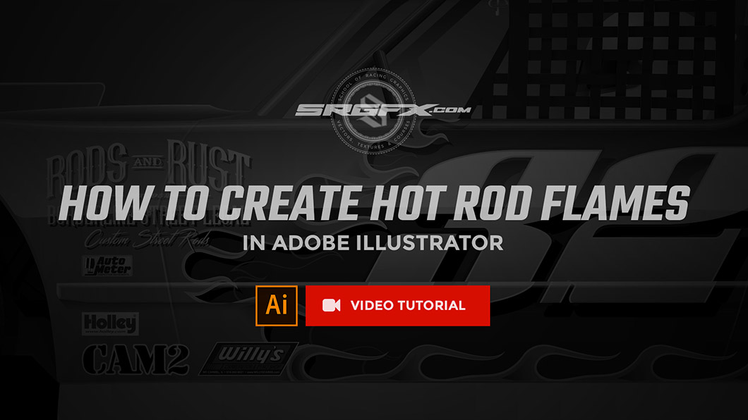 How to create hot rod flames in Adobe Illustrator