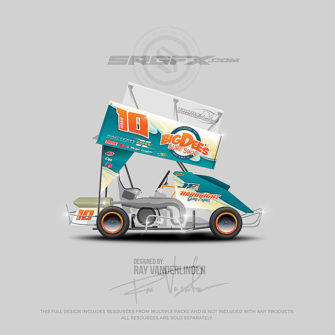 2017 Big Dees's Surf Shop Outlaw Kart