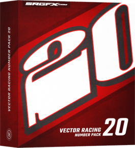 SRGFX Vector Racing Number Pack 20 Box