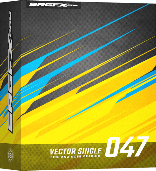 SRGFX Vector Racing Graphic Single 047