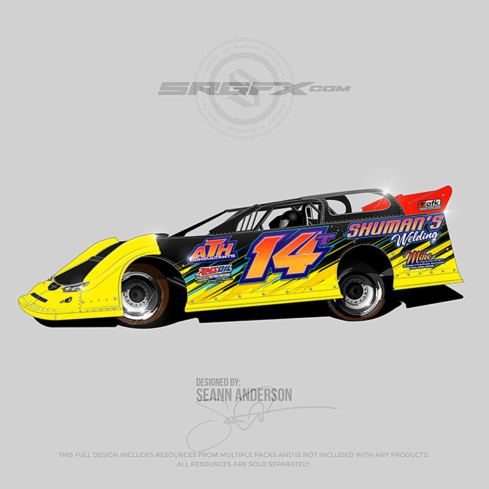 Shuman's 2017 Dirt Late Model Livery