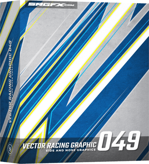 SRGFX Vector Racing Graphic 049 Example Layout Box