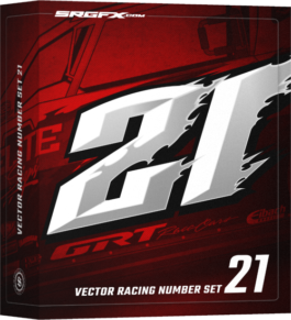 SRGFX Vector Number Set 21 Box