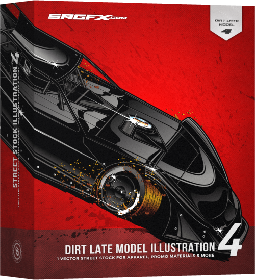 SRGFX Dirt Late Model Illustration 4 Box