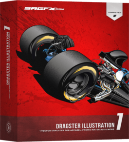 SRGFX Dragster Illustration 1 Box