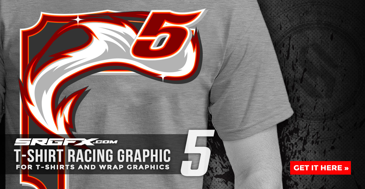 SRGFX T-Shirt Racing Graphic 5 Banner