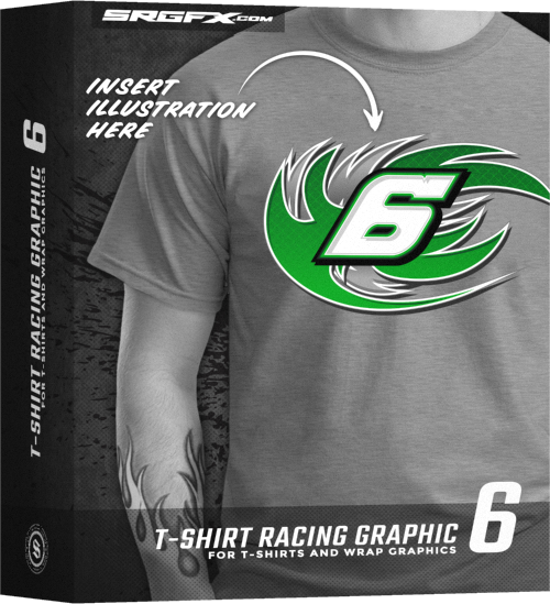 T-Shirt Racing Graphic 6 Box