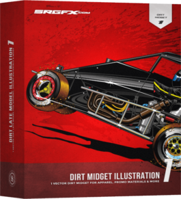 SRGFX Dirt Midget Illustration 1 Box