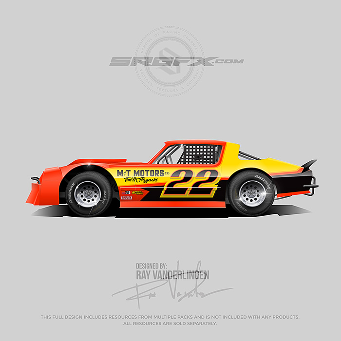 Tim Fitzgerald 2018 Street Stock Wrap Design