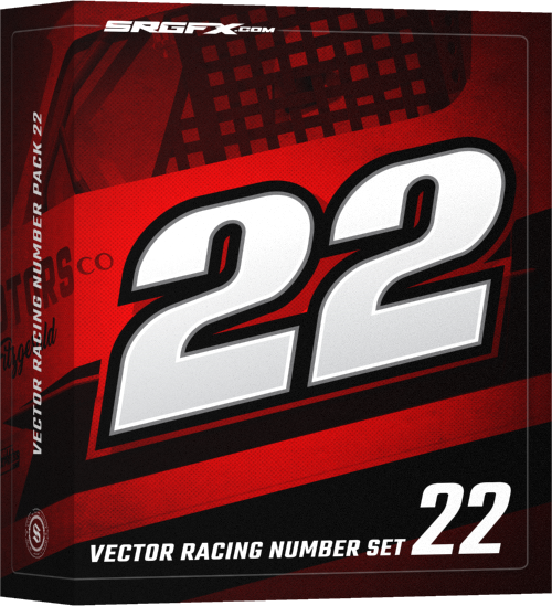 SRGFX Vector Racing Numbe Set 22