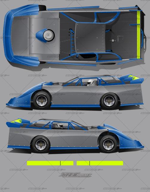 SRGFX XR1 Dirt Late Model Wrap Template