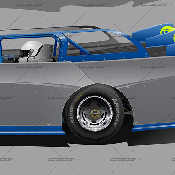 SRGFX XR1 Dirt Late Model Wrap Template
