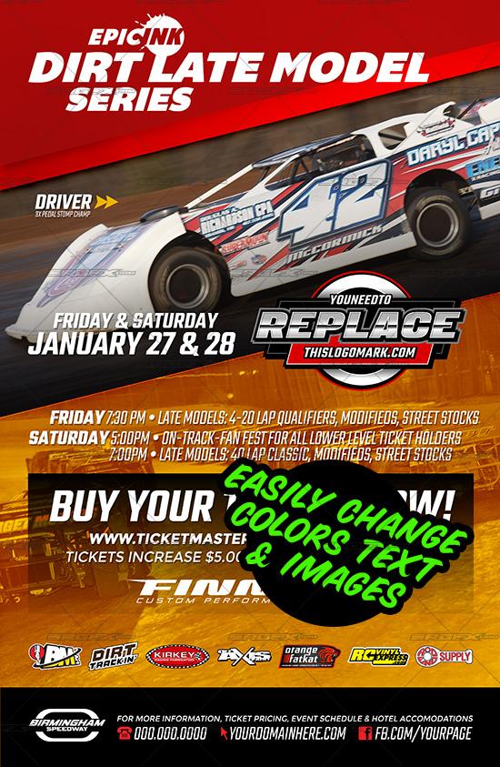 racing event poster template 5 srgfx com