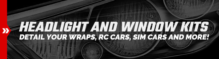 Printable Racing Headlight and Window Kits
