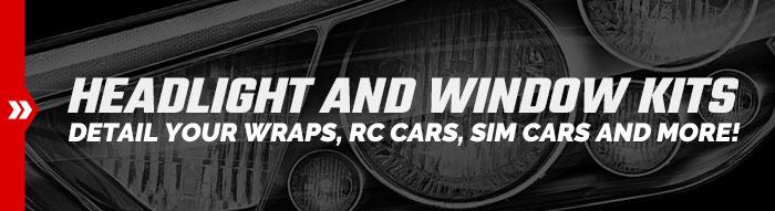 Printable Racing Headlight and Window Kits