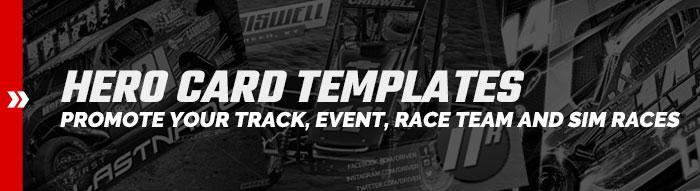 Racing Hero Card Templates
