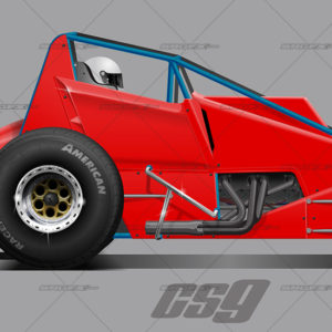 Cs9 Sprint Car Template