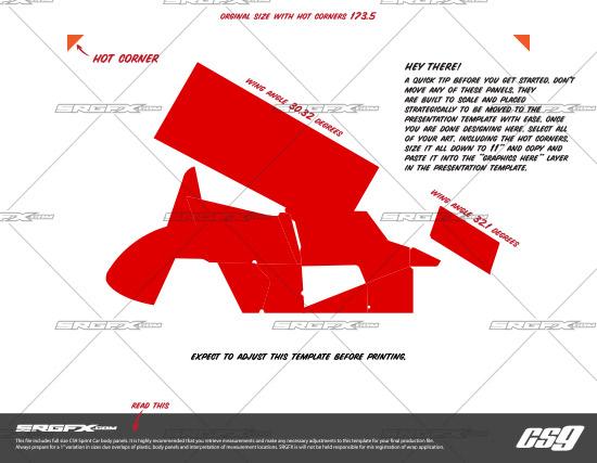 SRGFX CS9 Sprint Car Template