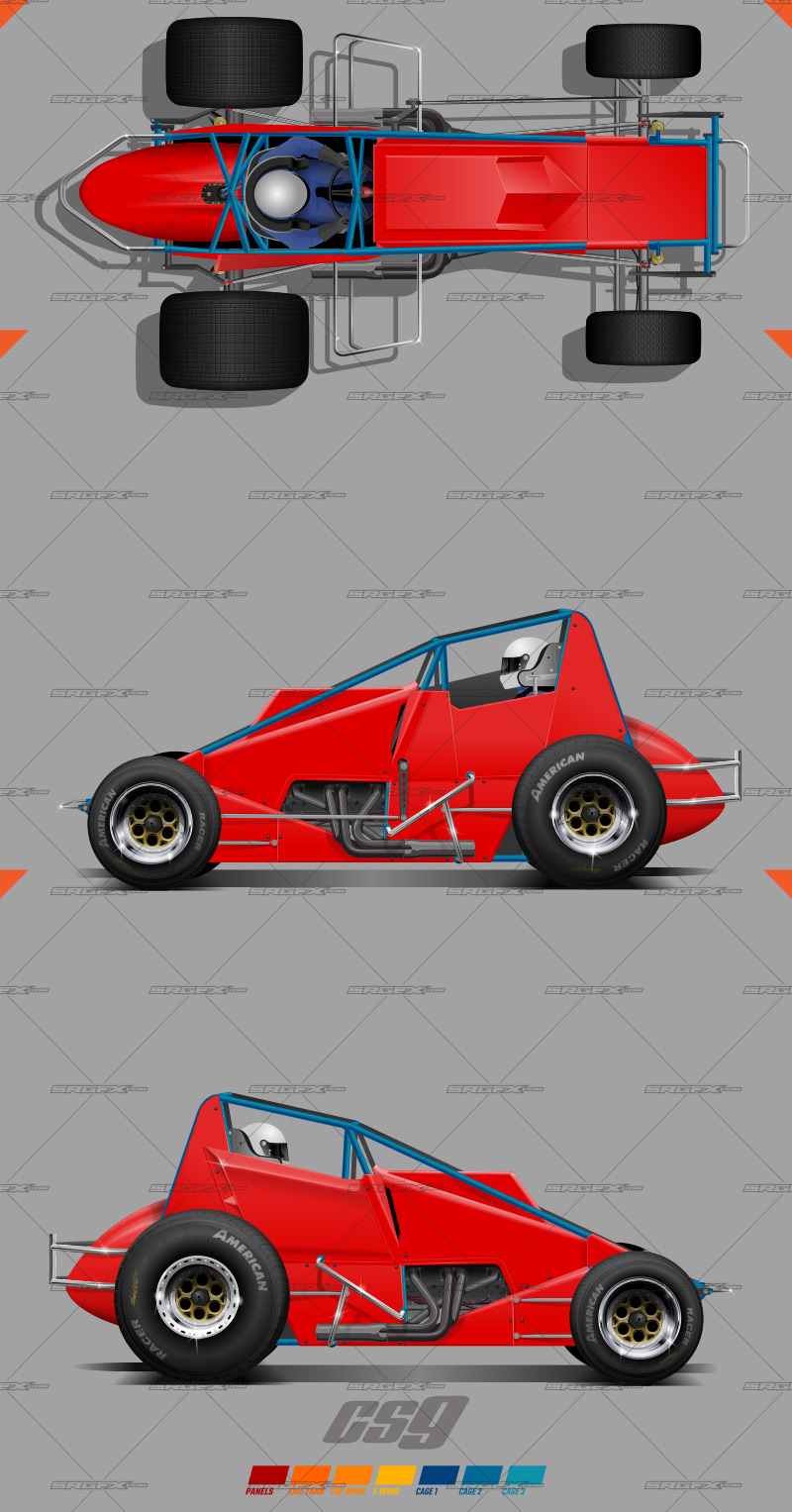 Cs9 sprint car template school of racing graphics for Race car graphic design templates