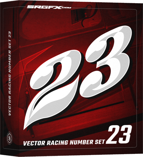 SRGFX Vector Racing Number Set 23 Box