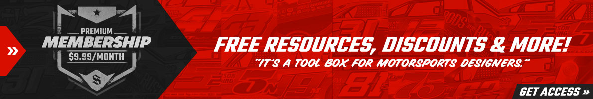 SRGFX Premium Membership. A tool box for motorsports wrap designers.
