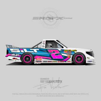 Silt 2018 Dirt Racing Truck Wrap Design