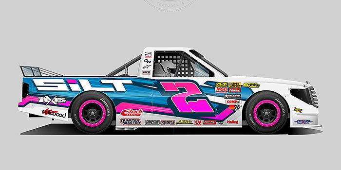 Silt 2018 Dirt Racing Truck Wrap Design