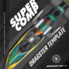Super Comp Dragster Wrap Render Template Box
