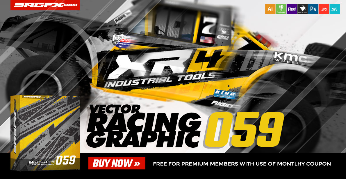 SRGFX Vector Racing Graphic 059