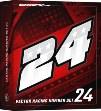 SRGFX Vector Racing Number Set 24 Box