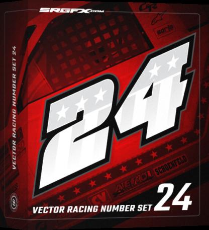 SRGFX Vector Racing Number Set 24 Box