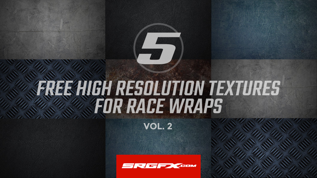 5 free high resolution textures for race wraps vol.2