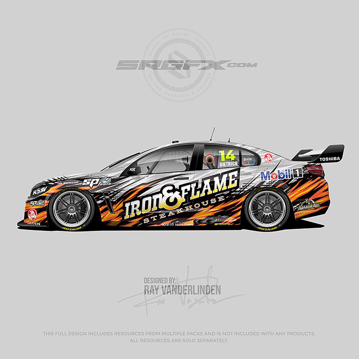 Iron and Flame Steakhouse 2018 Holden V8 Supercar
