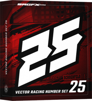 SRGFX Vector Racing Number Set 25