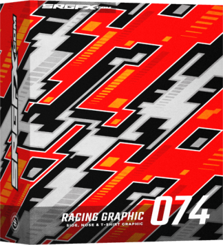 Futuristic SRGFX racing graphic 074 Box
