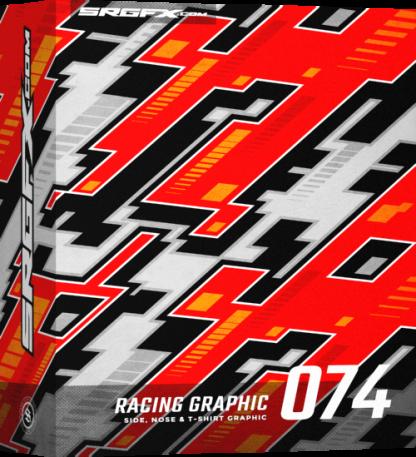 Futuristic SRGFX racing graphic 074 Box