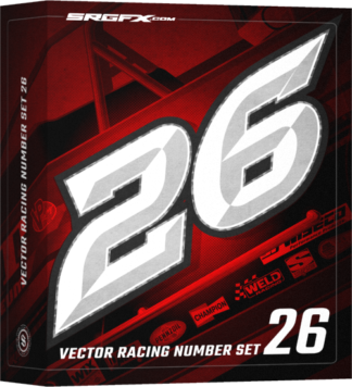 SRGFX Vector Racing Number Set 026 Box