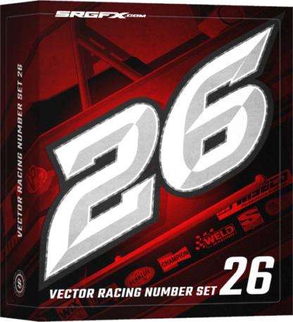 SRGFX Vector Racing Number Set 026 Box