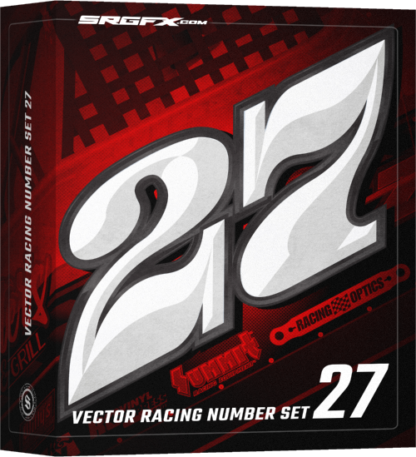SRGFX Vector Racing Number Set Box
