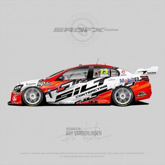 Futuristic SRGFX racing graphic 074