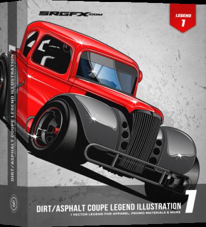 Dirt/Asphalt Coupe Legend Illustration