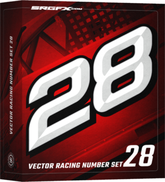 SRGFX Vector Racing Number Set 28 Box