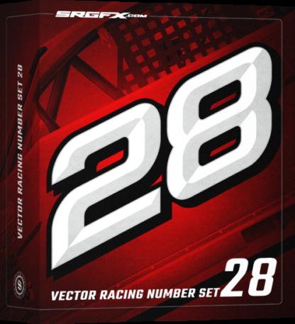 SRGFX Vector Racing Number Set 28 Box