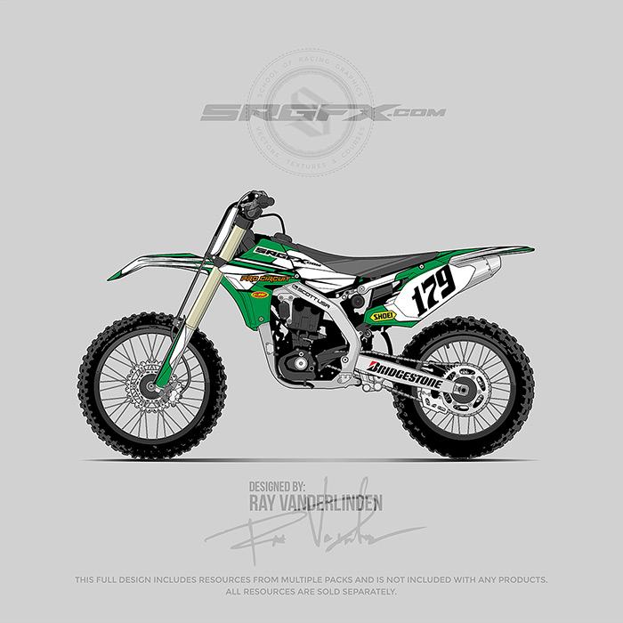 SRGFX Racing Graphic 079 Motocross Graphic